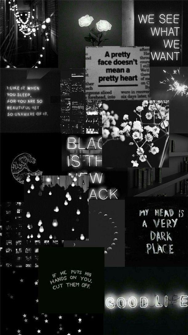 B L A C K In 2020 Iphone Wallpaper Vintage Aesthetic Wallpapers Cute Black Wallpaper