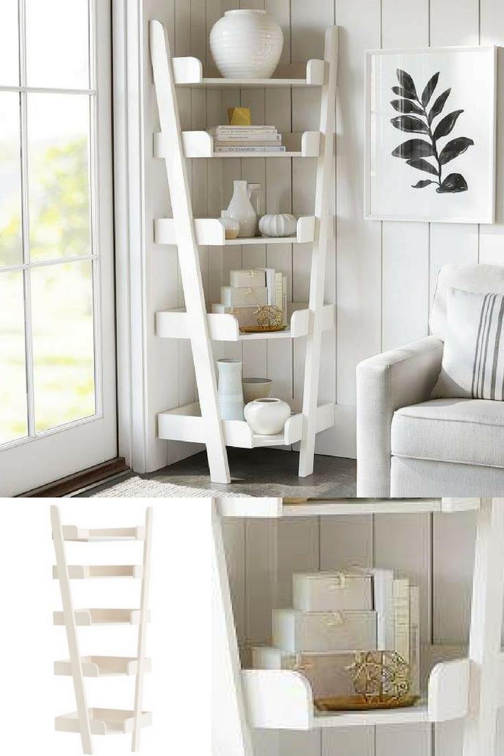 This Corner Shelf Unit Gives The Illusion Of An Inverted Ladder Unlike Regular Ladder Shelves All Levels Pro Shelves Dining Room Corner Shelf Decor Bedroom