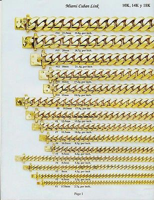 Width Chart For Cuban Link Chain Gold Necklace For Men Gold Chains For Men Gold Bracelet Chain