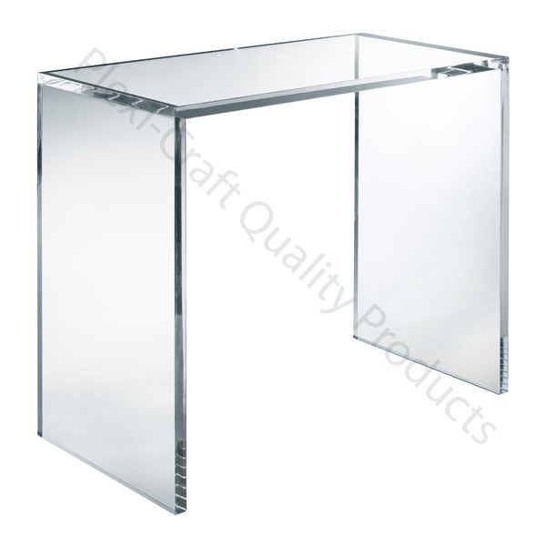 Attrayant The Lucite Square Console Table Is The Perfect Place To Put A Few Treasured  Items Without