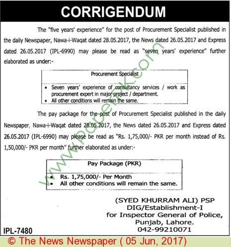 Police Department Lahore Jobs | Jobs In Pakistan | Jobs in