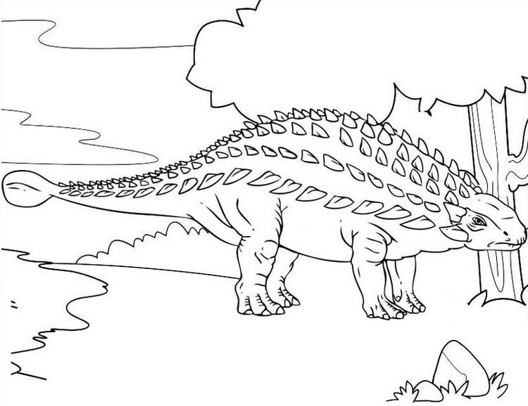 Read Moreankylosaurus Herbivorous Dinosaurs Coloring Page