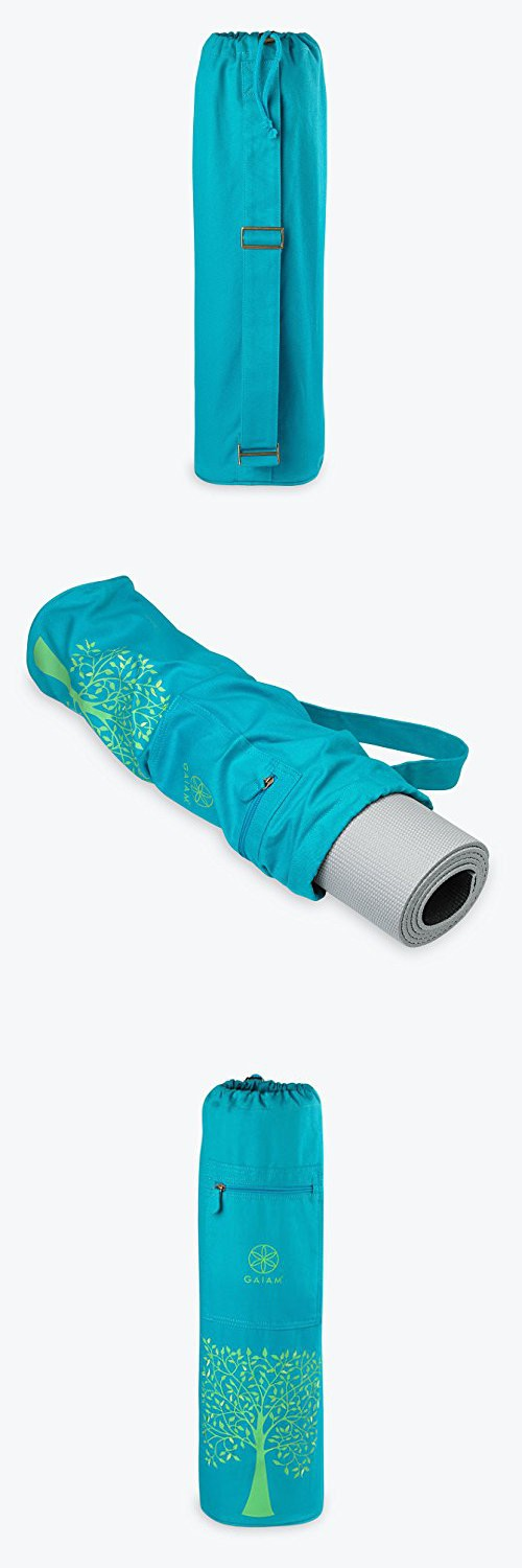 GAIAM - Harmony Tree Mat Bag (Blue) | Yoga Mat Bags | Pinterest