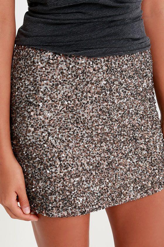 c86afc61ad Billabong Showin' Off Bronze Sequin Skirt   lè wardrobe siorée ...
