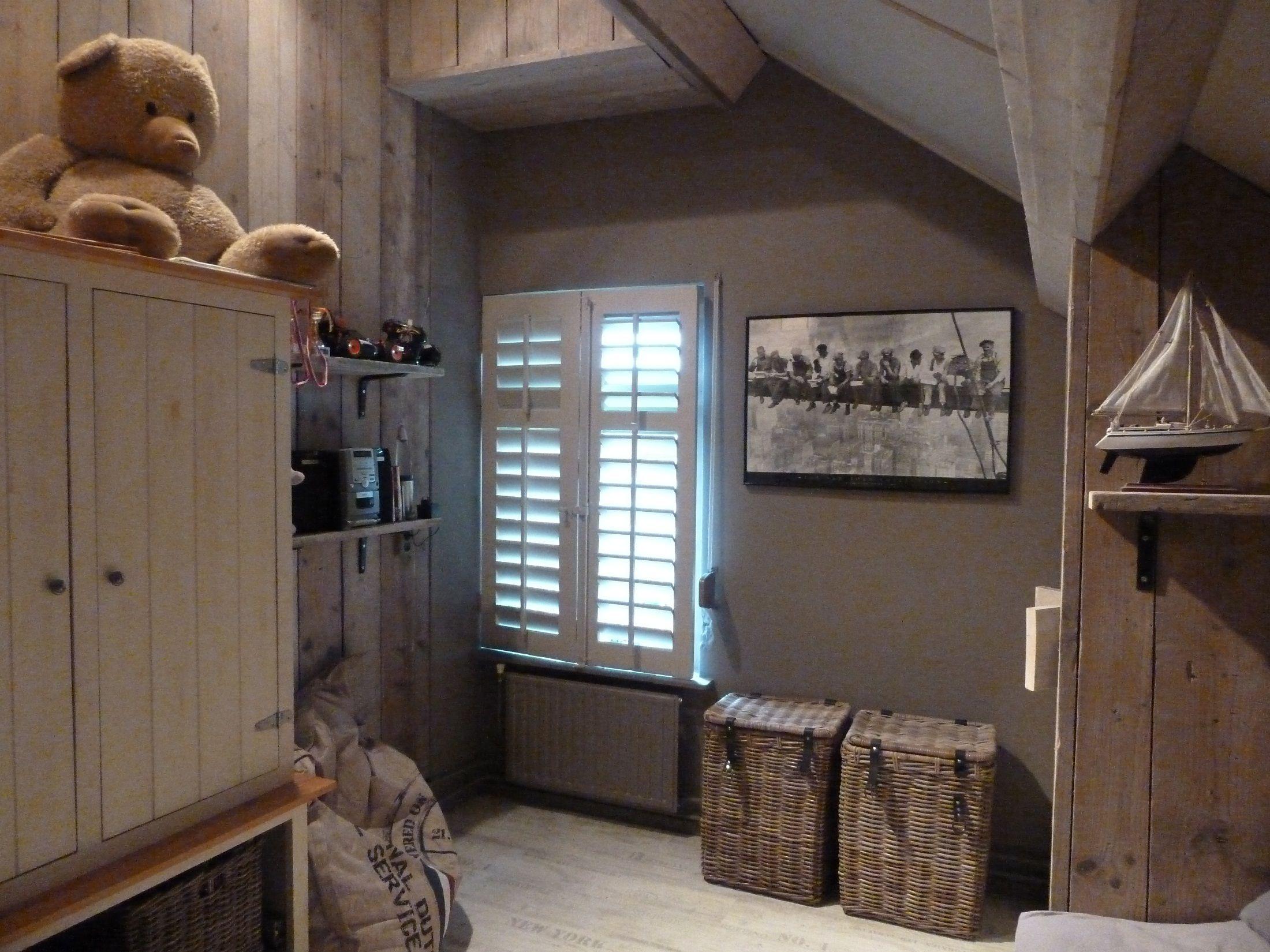 Prachtige met steigerhout gestylde kinder slaapkamer | interieur ...