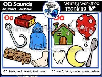 Phonics Double Oo Sounds Bundle Whimsy Workshop Teaching Oo