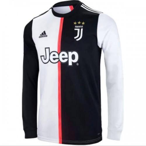 Primera Equipacion Camiseta Juventus Manga Larga 2019 2020