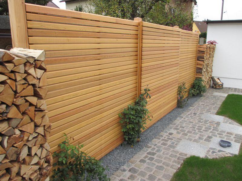Sichtschutz Holz Garten Pinterest Gardens - sichtschutz im garten modern
