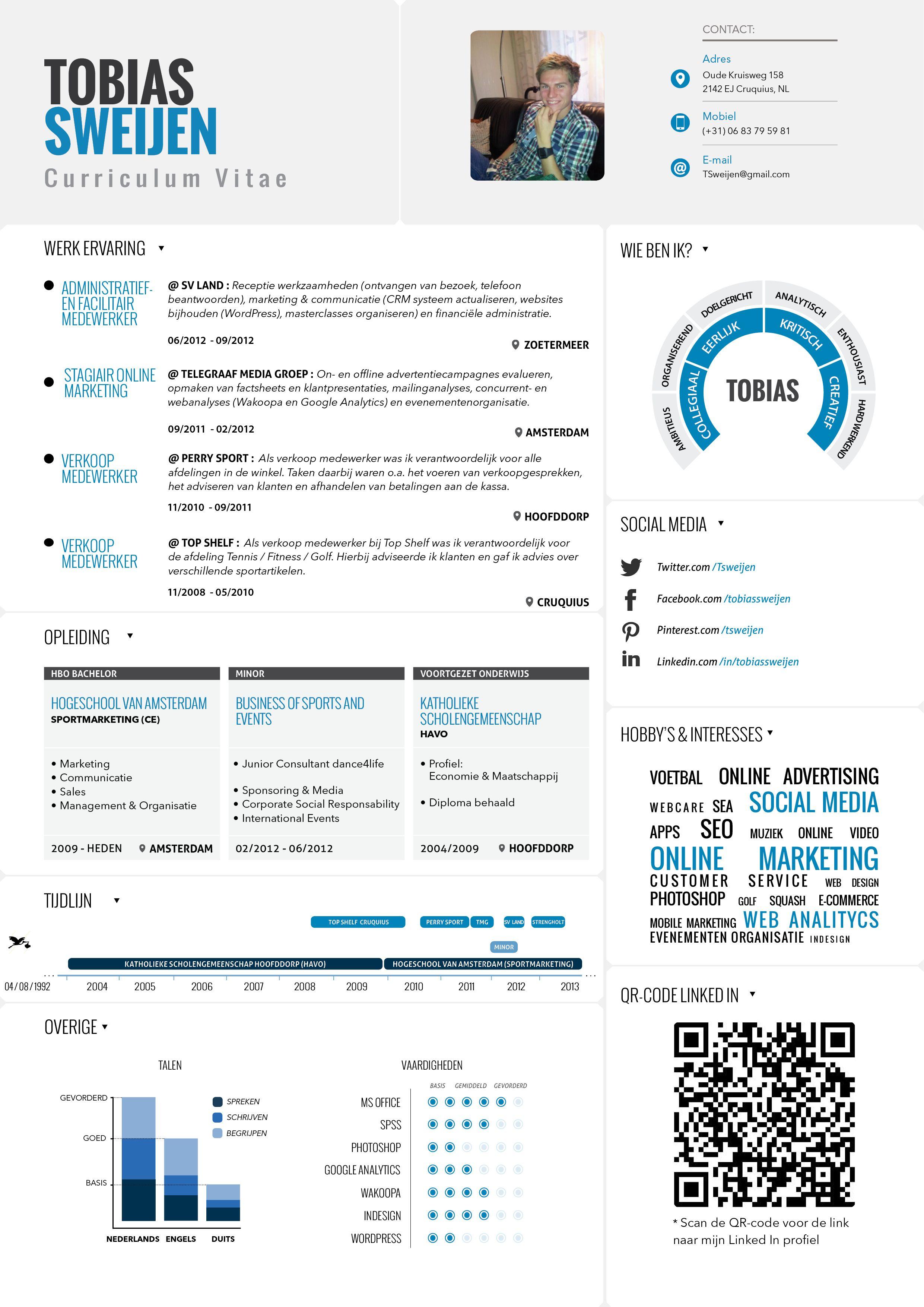 curriculum vitae resume infographic tobias sweijen