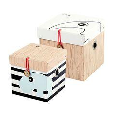 Set de 6 boîtes de rangement Small - Naturel/Noir  Main