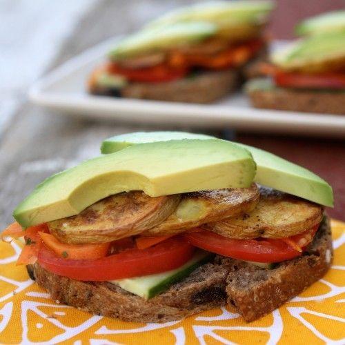 Vegan Oven Roasted Potato Sandwich Recipe