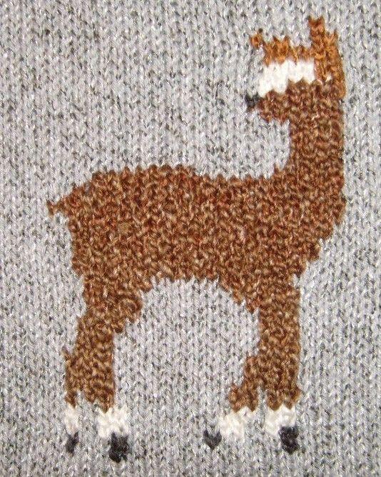 Grazing Alpacas Hand Knitting Pattern PDF & VIDEO Tutorial