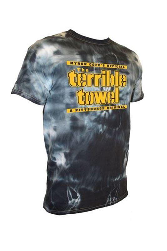 4e5dc6531 Pittsburgh Steelers Terrible Towel Black Tie Dye T-Shirt