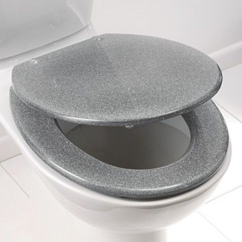 glitter toilet seats to sparkle your bathroom toilet. Black Bedroom Furniture Sets. Home Design Ideas