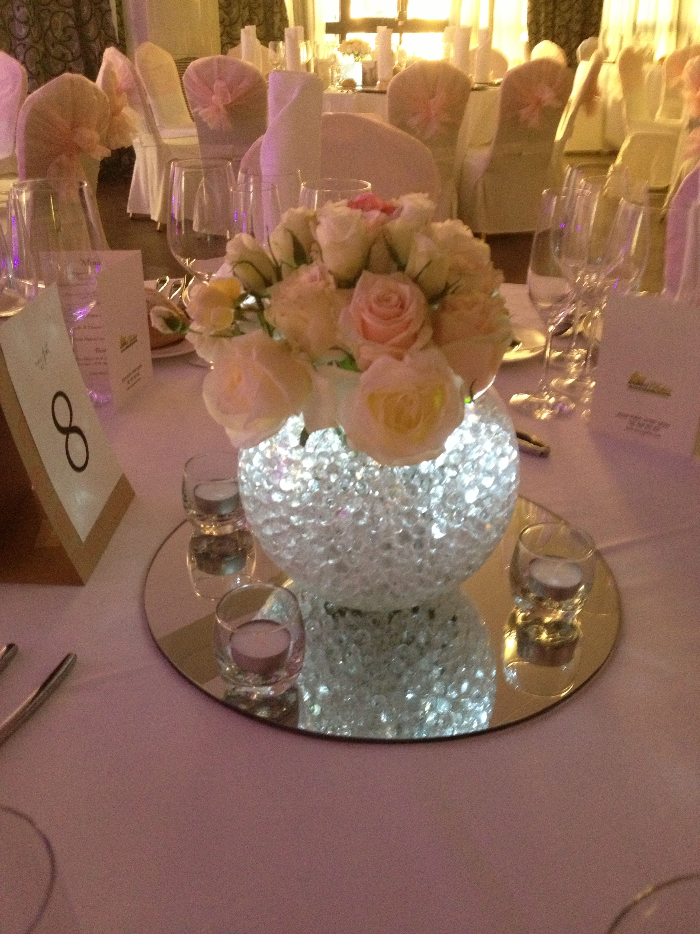 Bouquet de rosas para los centros de mesa en cousogalan for Decoracion bodas