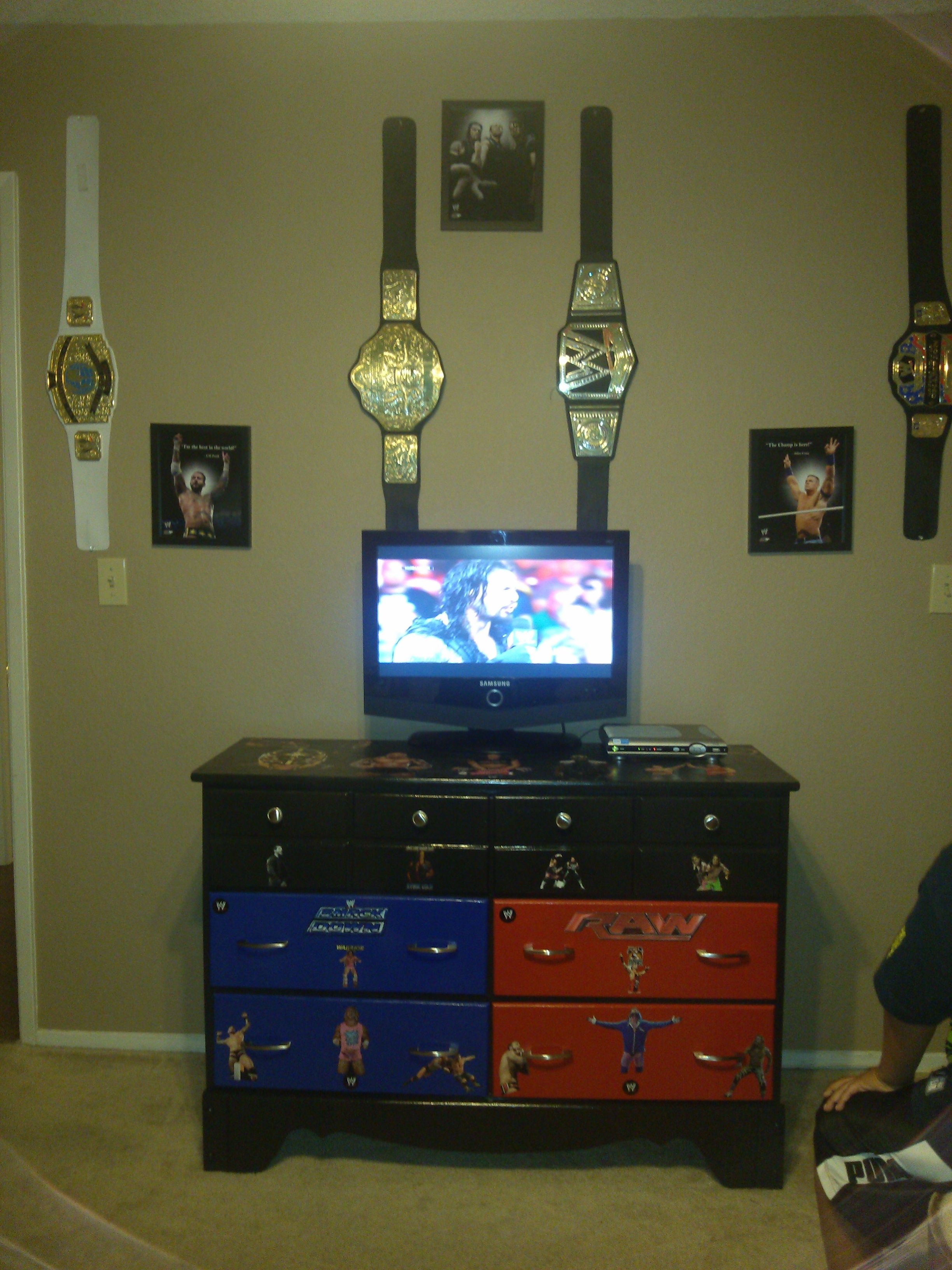 Wwe Bedroom Decor: My Very First DECOUPAGE Project Was My Sons 1963 Ugly A