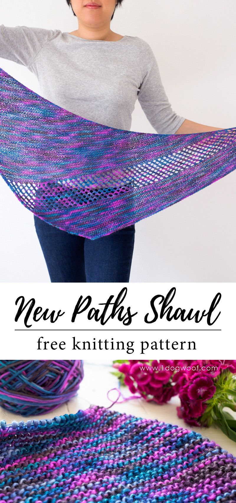 New Paths Shawl Free Knitting Pattern | Free knit shawl ...