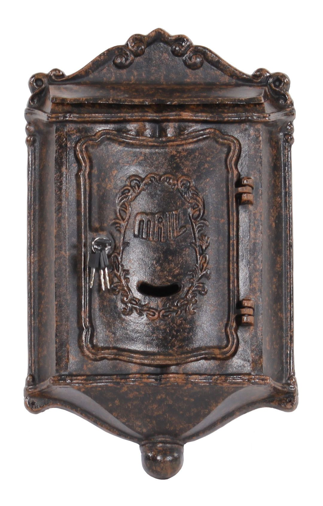 Colonial Locking Wall Mounted Mailbox Vintage Mailbox Wall Mount Mailbox Antique Mailbox