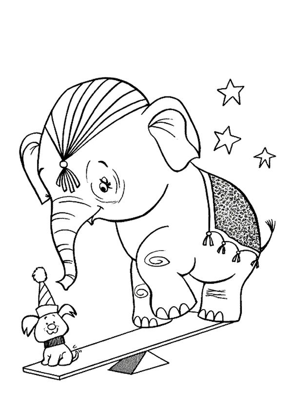 Circus BOYAMA Pinterest - new circus coloring pages for preschool