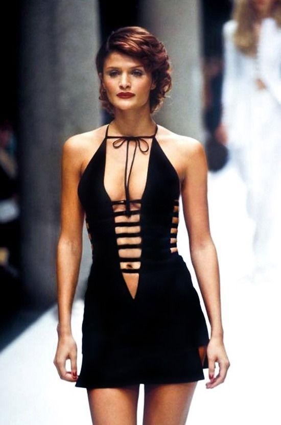 1996 Fendi Furs Fashion Magazine Print Ad: Helena Christensen FENDI Runway Show Spring/Summer 1995