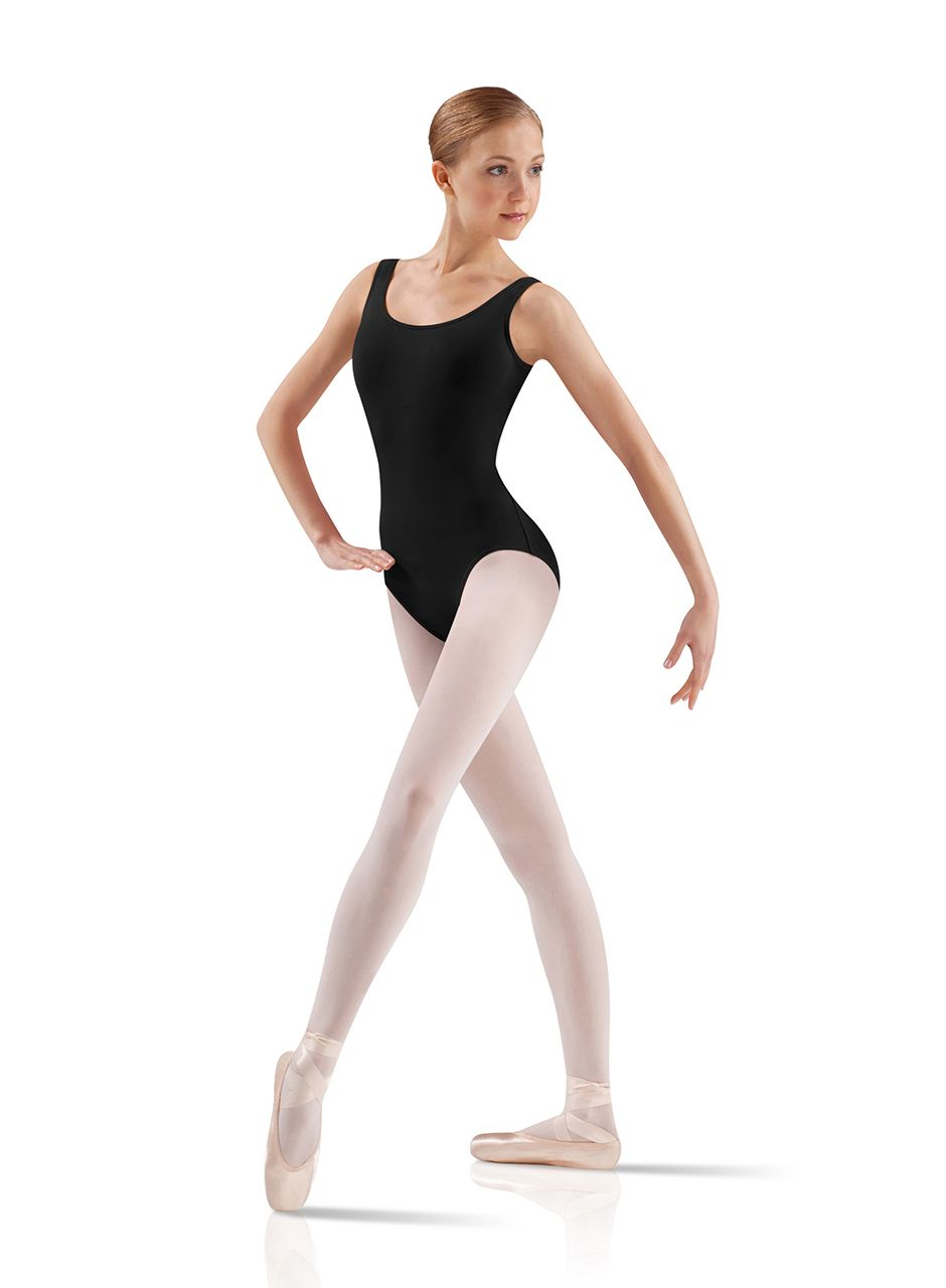 f4cdc8a5ceb Adult Core Basics Tank Ballet Dance Leotard by Leo s in Black  LD002LM