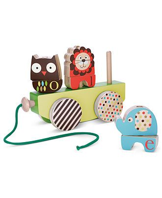 Skip Hop Baby Toy Babys Alphabet Zoo Rock Stack Pull Toy