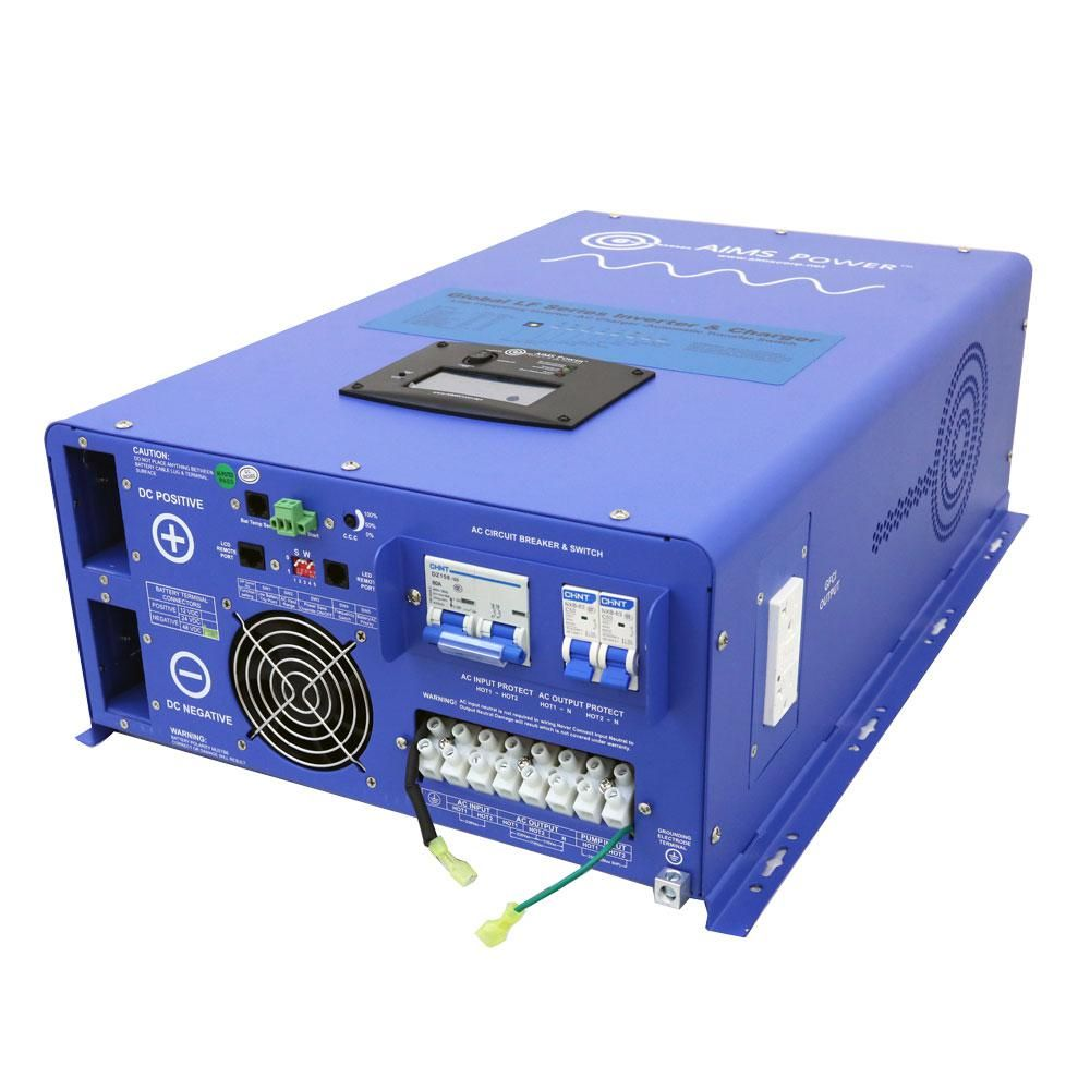 Aims Power 10 000 Watt Pure Sine Inverter 10 000 Watt Pure Sine Inverter Charger 48 Volt Dc To 120 Volt 240 Volt Ac Split Phase Picoglf10kw48v240vs The Home D In 2020 Power Inverters Split Ac Sines