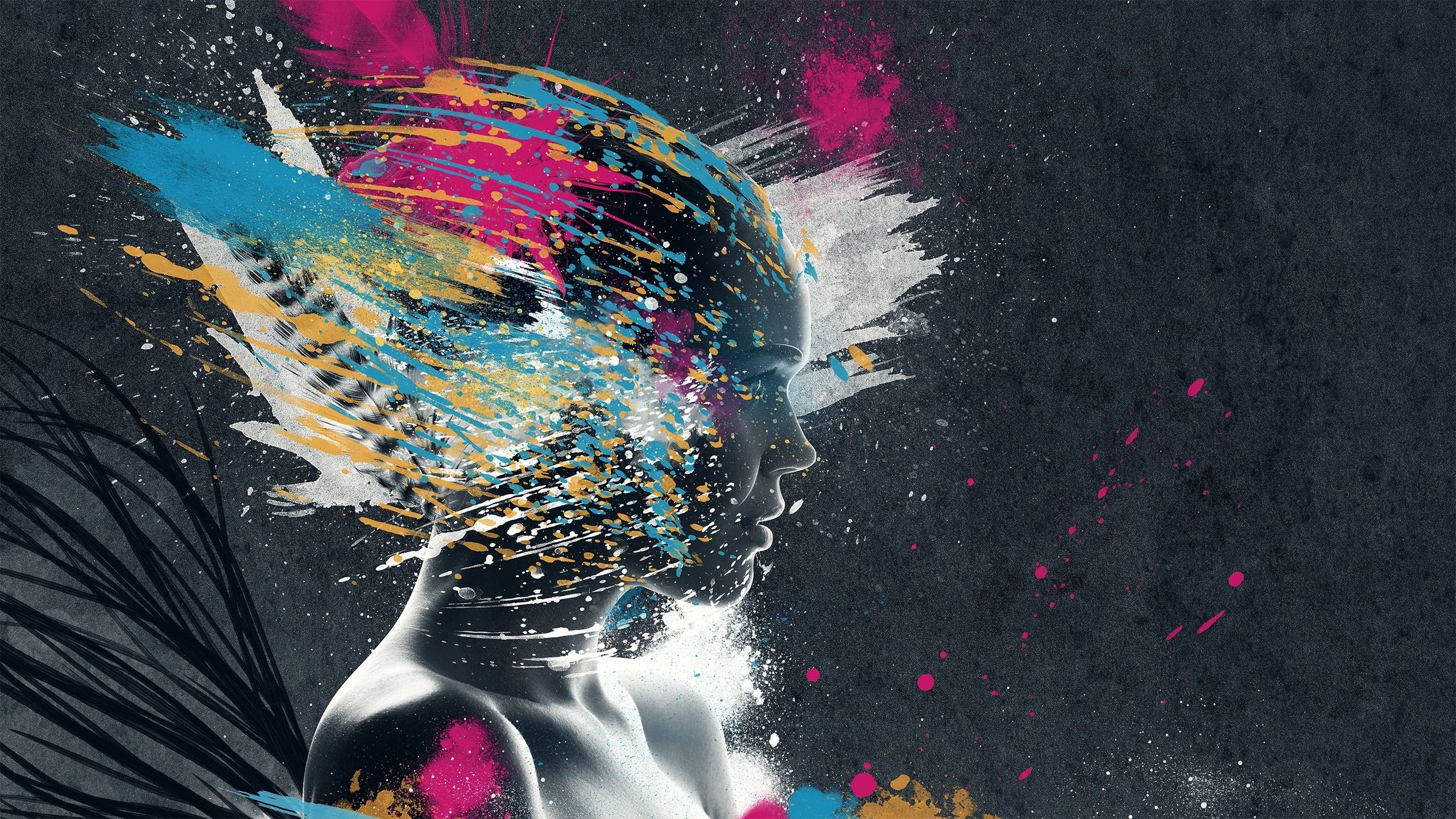 Abstract Girl Painting Wallpaper