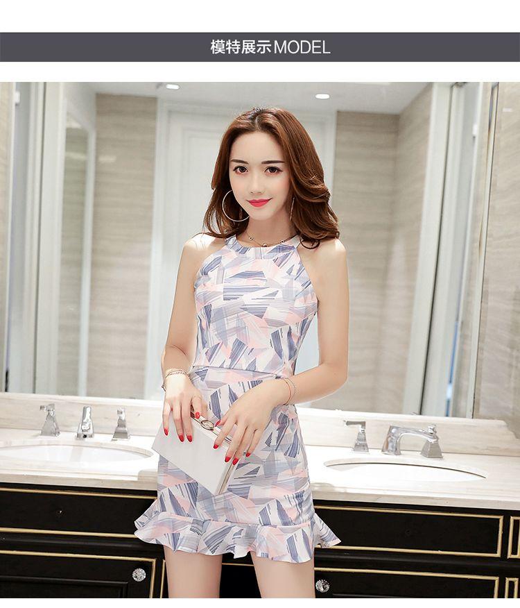 Women s Halter Ruffle Edge Wrapped Dress   Lazada Singapore Girls Night  Out, Wrap Dress, a09a40a3f1b6
