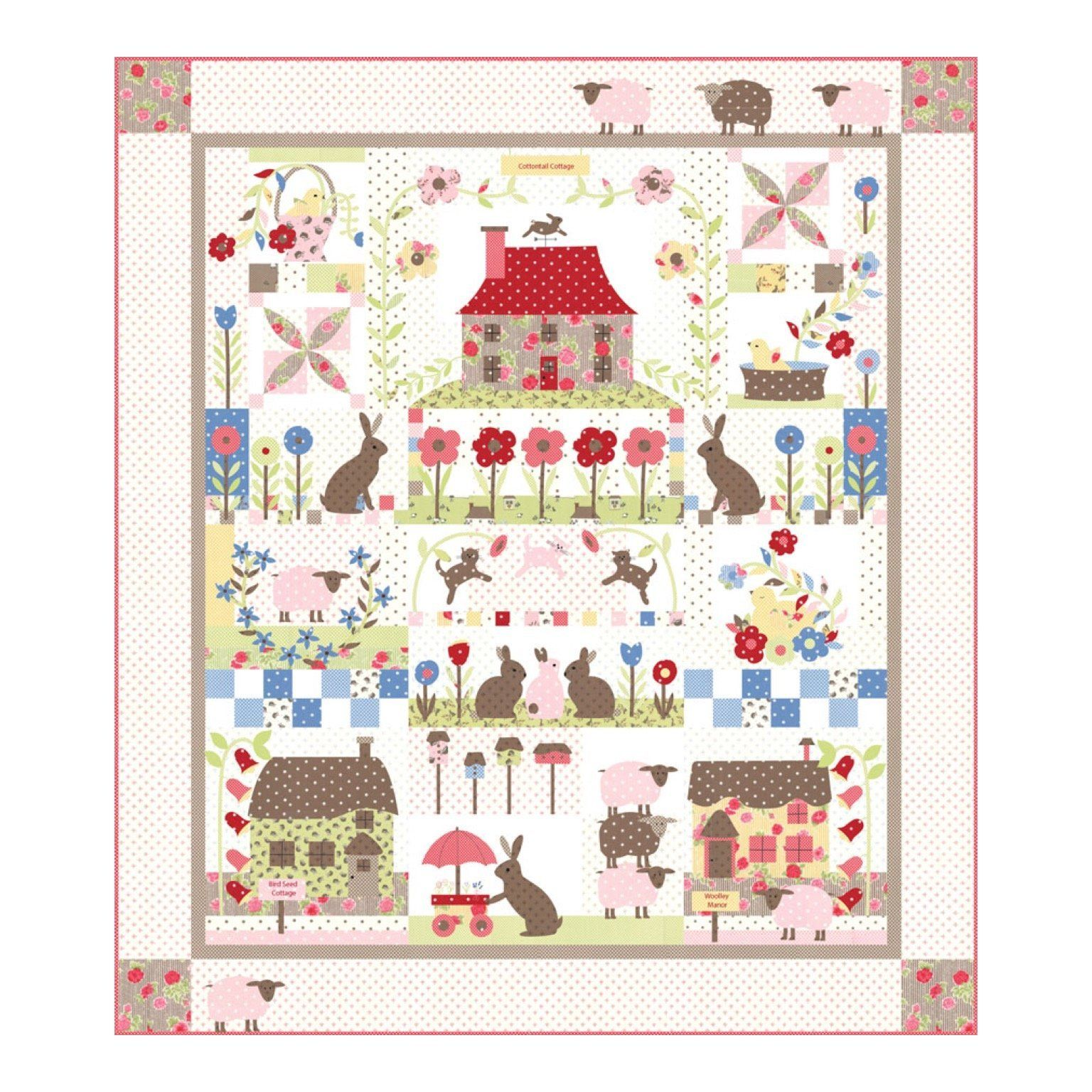 Cottontail Cottage Quilt Kit Bunny Hill Designs Moda Fabrics My Favorite Quilt Store My Favorite Quilt Patterns Quil Cottage Quilt Quilts Bunny Quilt