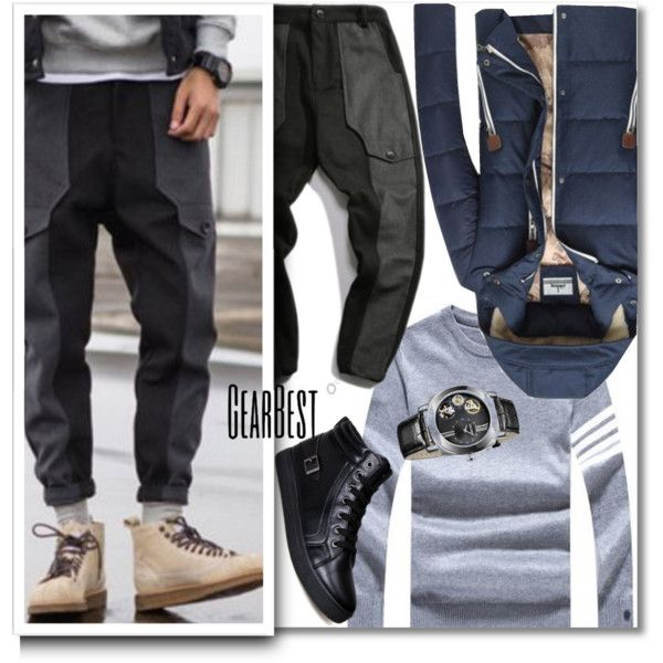 Jogger Pants & Sweater by andrea2andare on Polyvore featuring men's fashion and menswear