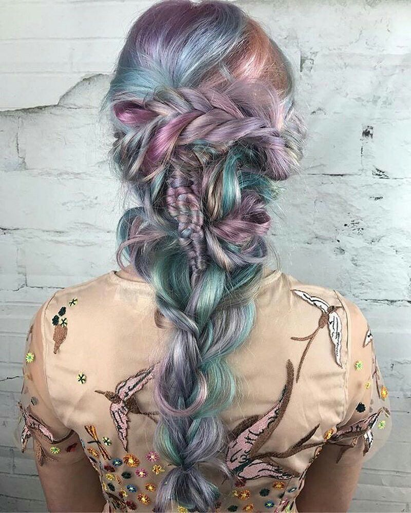 mermaid hair colors and style