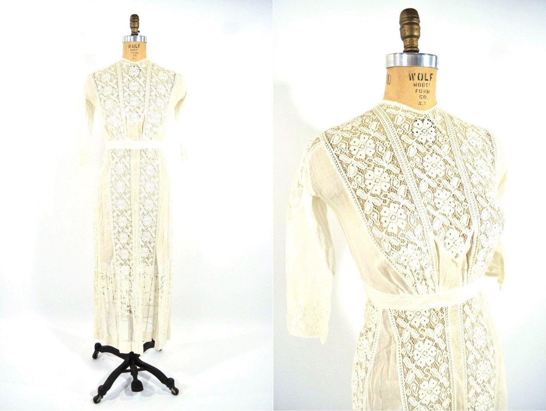 S dress vintage cream lace dress the waldorf edwardian
