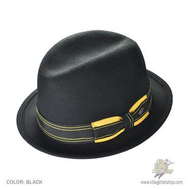 Male fashion · Bailey Jamie Fedora Hat (Black) ddf1f534502