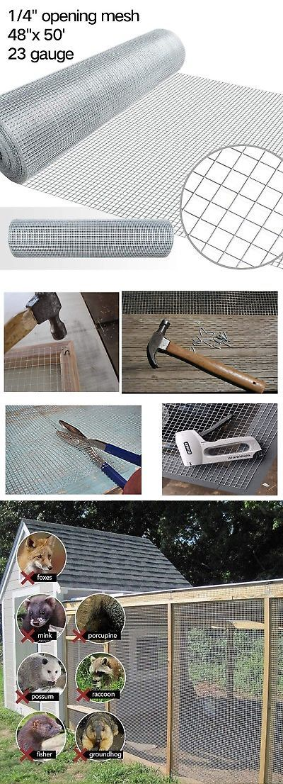Hardware Cloth Metal Mesh 180985 48x50 Hardware Cloth 1 4 Inch Square Galvanized Chicken Wire Welded Fence Mes Buy It Hardware Cloth Metal Mesh Hardware