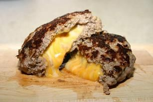 Carne de hamburguesa rellena de queso Utilisima