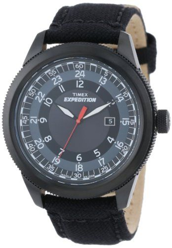 25f7e525662 nice Timex Men s T49820DH Expedition Military Classic All-Black Nylon Strap  Watch –