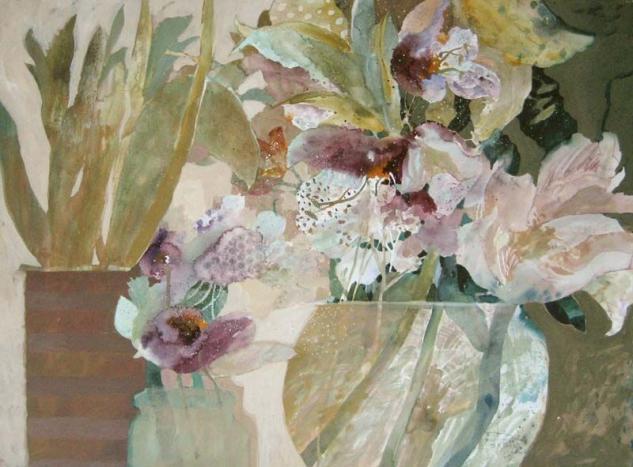 Dorothy Ganek: Still Life #13 (22x30 watercolor) from Renjeau Galleries #contemporaryart #contemporary #art #flowers