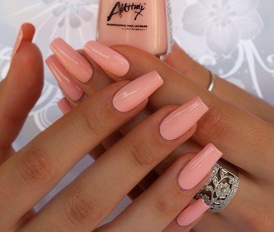 Simple Delicately Elegant Peach Acrylic Nails Trendy Nails Summer Acrylic Nails
