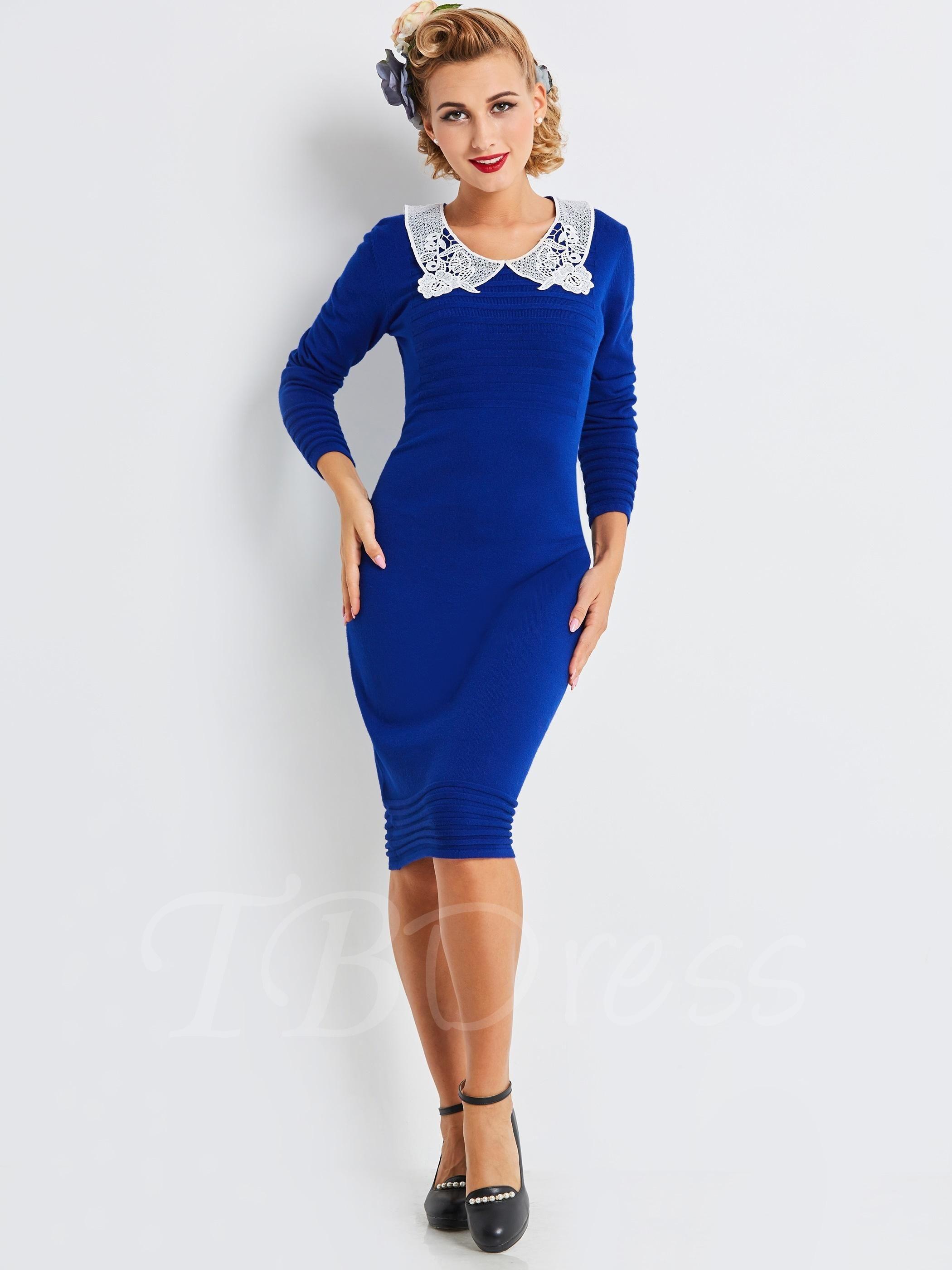 05e71c8b6ca  TBDress -  TBDress Blue Pullover Womens Sweater Dress - AdoreWe.com
