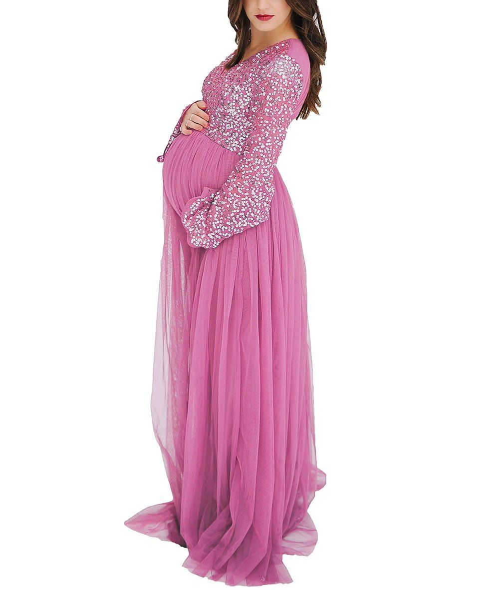 3c1be69d0c6 Maternity Dresses - Ri Yun Womens Sequins Long Sleeves Maternity Dresses  for Photography 2018 Pregnant Women Dresses for Baby Shower -- You could  obtain ...
