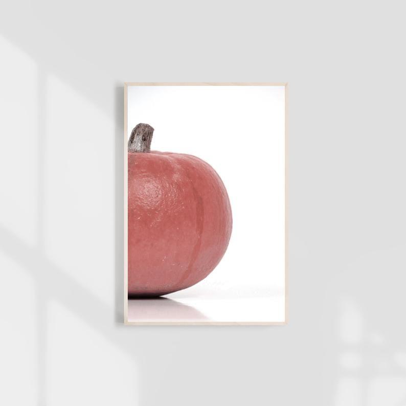 fall wall art, hygge decor, hygge, pink fall decor, pink pumpkins, pumpkin baby shower, pink pumpkin