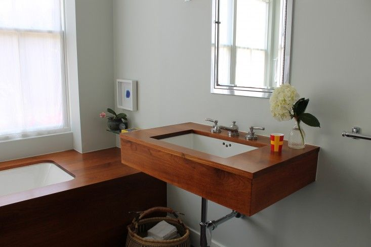 Caitlin Long And The Shingled House, Refinishing Teak Tub And Sink Surround