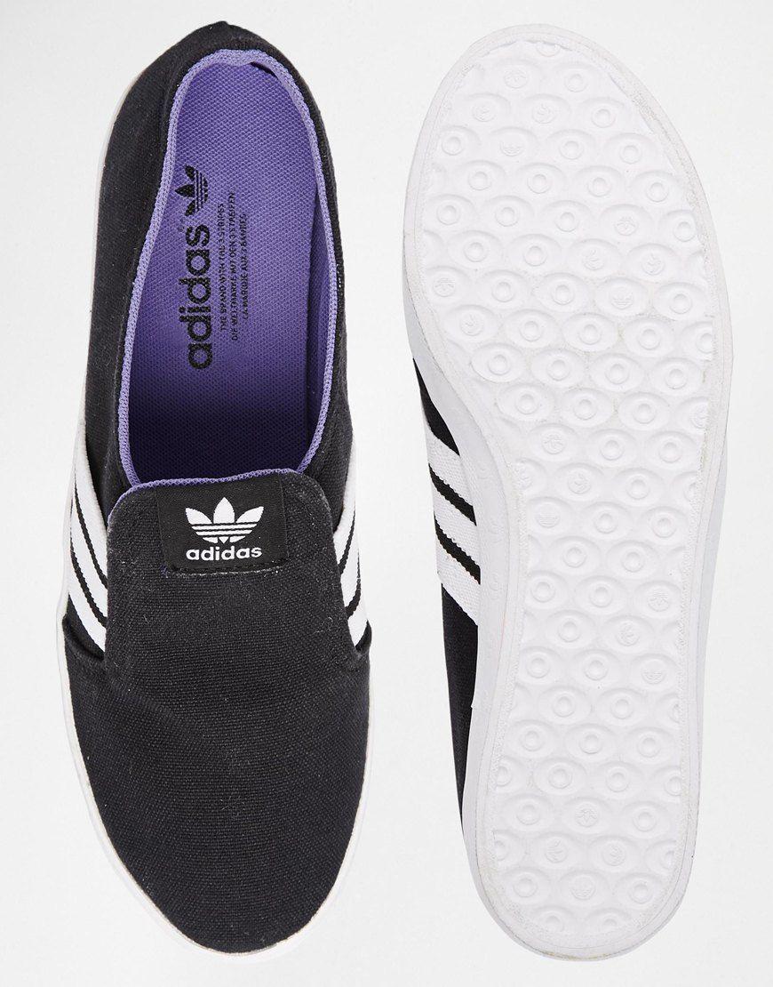 Imagen 2 de Adidas Original Adria negro slip - on zapatillas lujuriosa