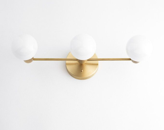 Photo of Light Fixture – Vanity Light – Bathroom Light – Bathroom Vanity – Brass Vanity – Modern Light – Mirror Vanity – Wall Light – Model No. 7826