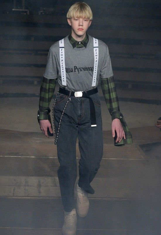 79785131e65976 Russian streetwear designer Gosha Rubchinskiy unveils the catwalk  presentation for his Fall Winter 2016 at Paris Fashion Week.