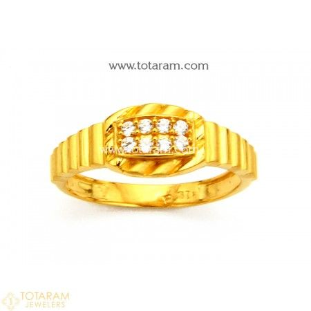 22K Gold Ring for Men with Cz 235 GR3939 Buy this Latest