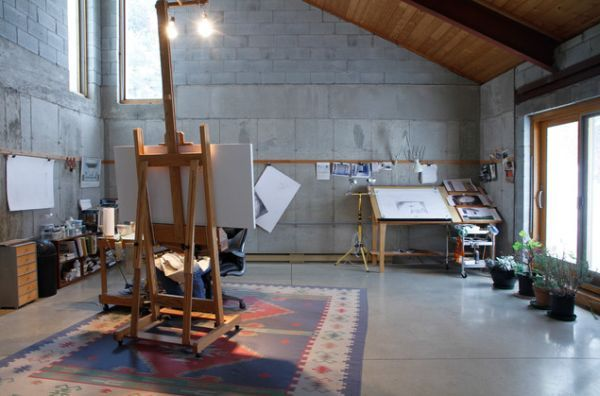 artist studio easel desk Art Studio Pinterest Art studios