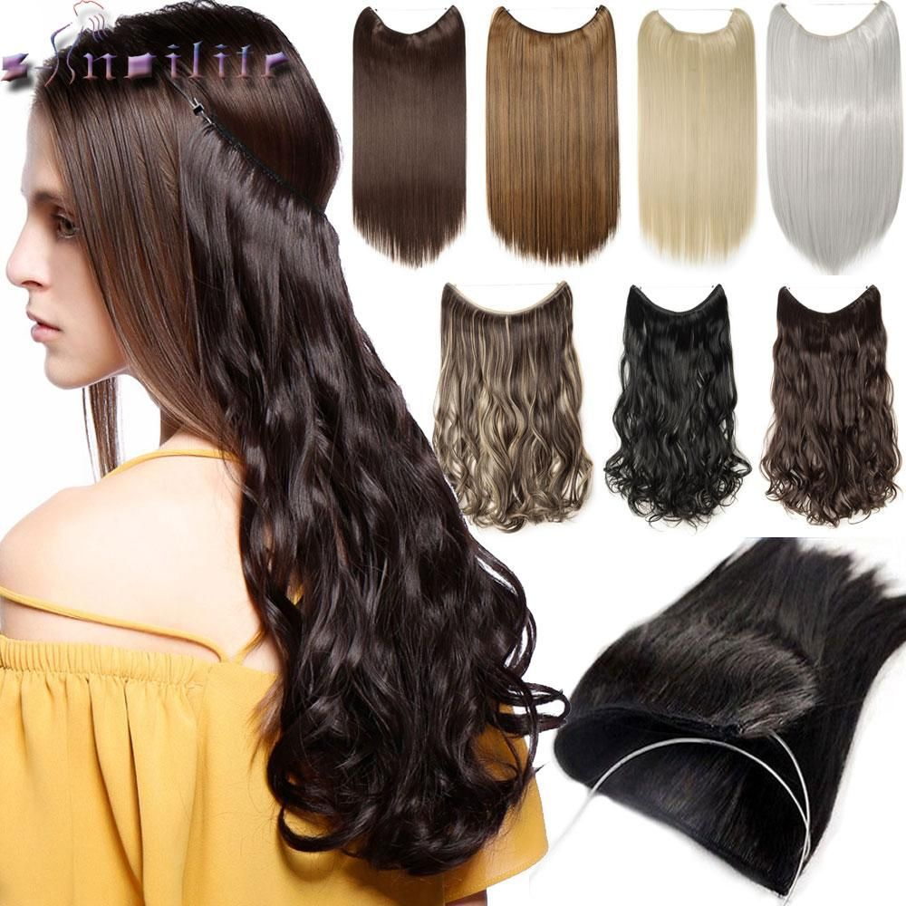 20 inches 100 Real Natural hair Invisible Wire in