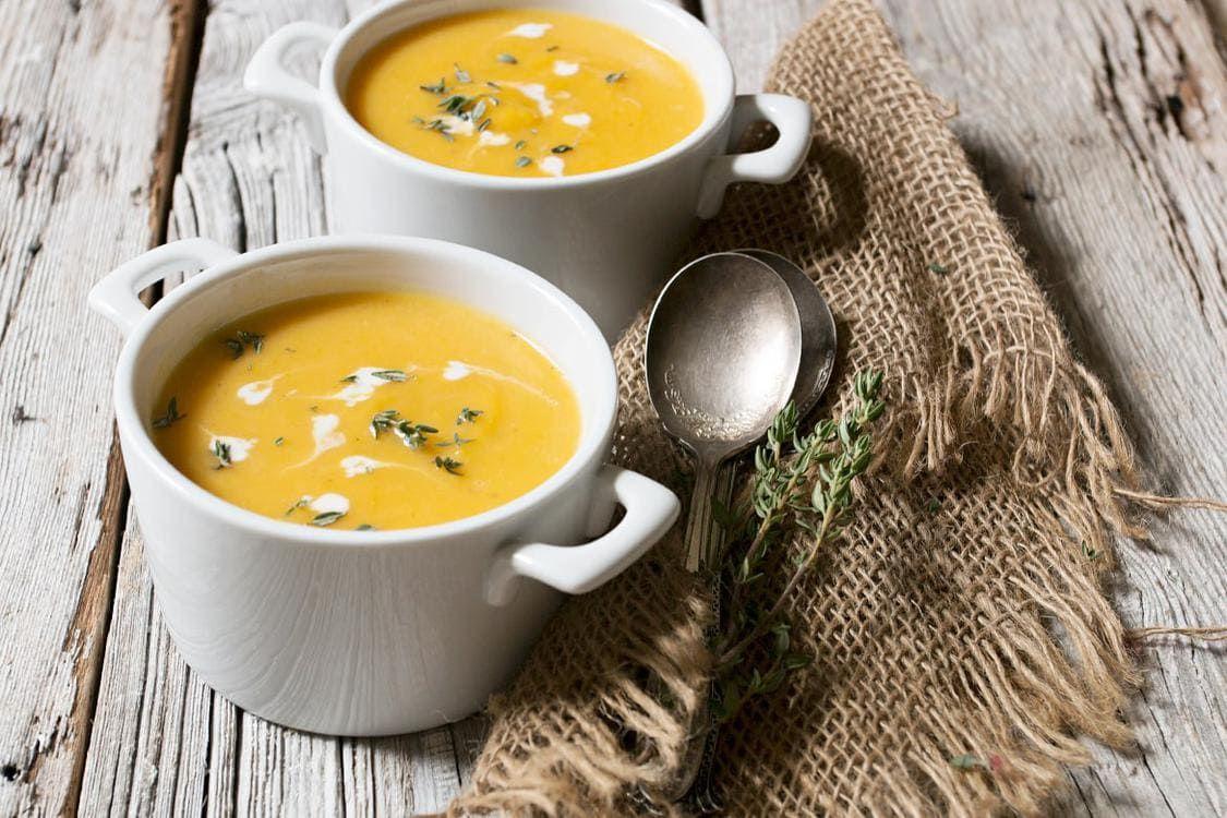 Classic Roasted Butternut Squash Soup #butternutsquashsoup